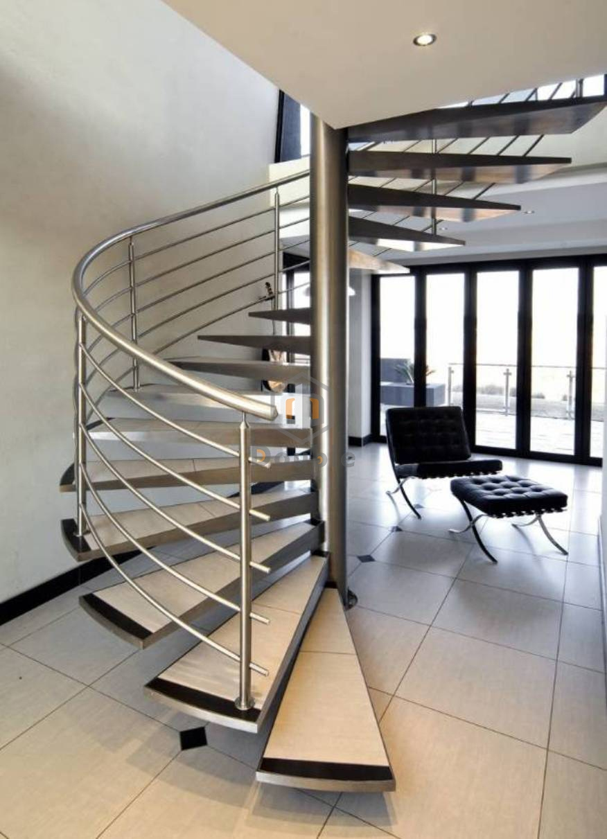 China Modern Indoor Design Spiral Staircase With Stainless Steel | Stainless Steel Staircase Designs | Grill | Ultra Modern Stair Grill | Affordable | Glass | Solid Steel