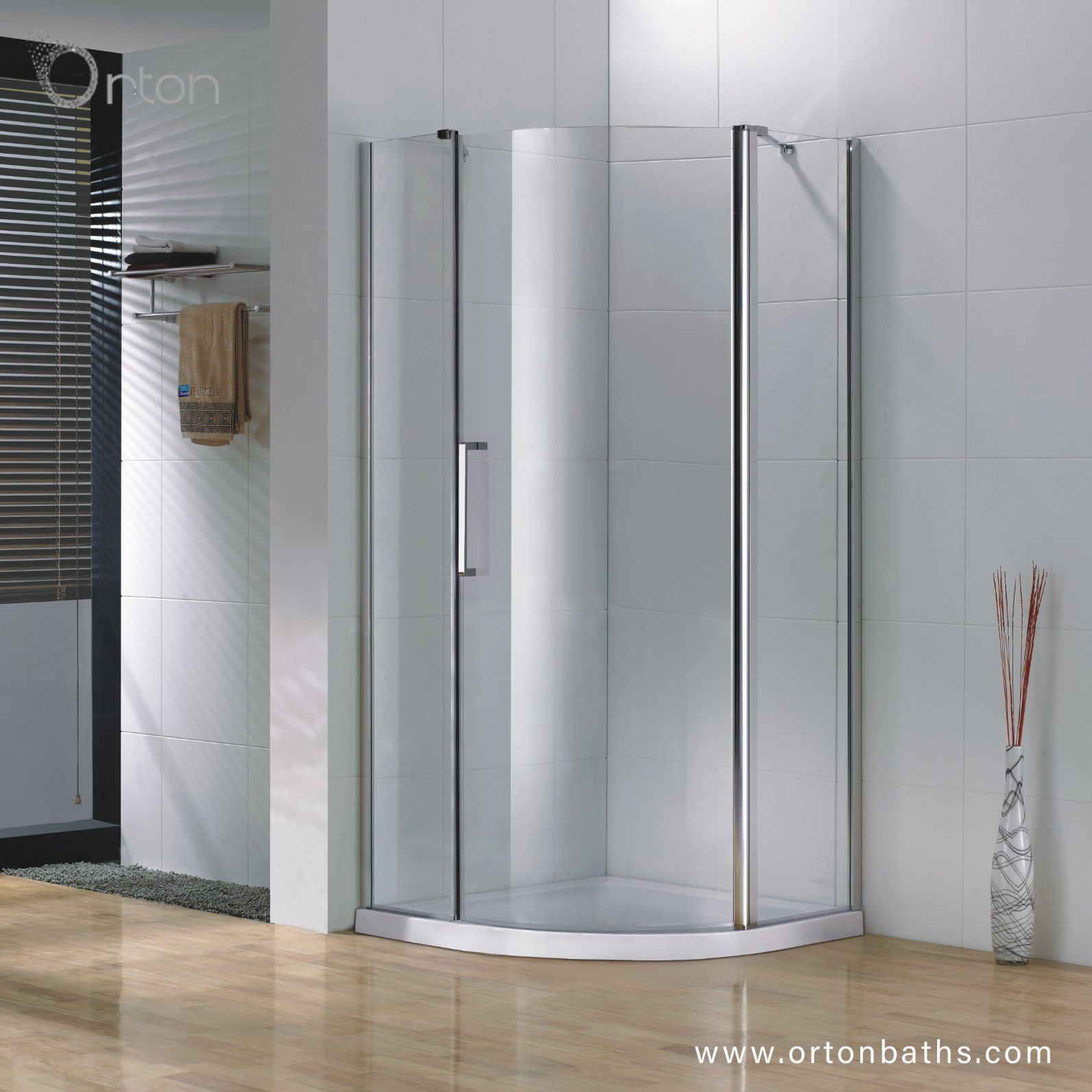 China Professional Safety Tempered Glass Curved Shower Room