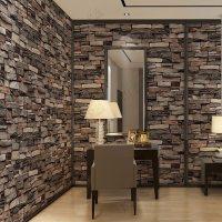 China Interior Design PVC Vinyl 3D Brick Wallpaper Wall ...