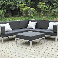 Metal Garden Sofa Sets Steel Frame India China Casual Selectional Set Aluminum Outdoor