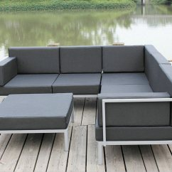 Diy Pvc Pipe Sofa How To Install Legs On Simmons China Casual Selectional Metal Set Aluminum Outdoor