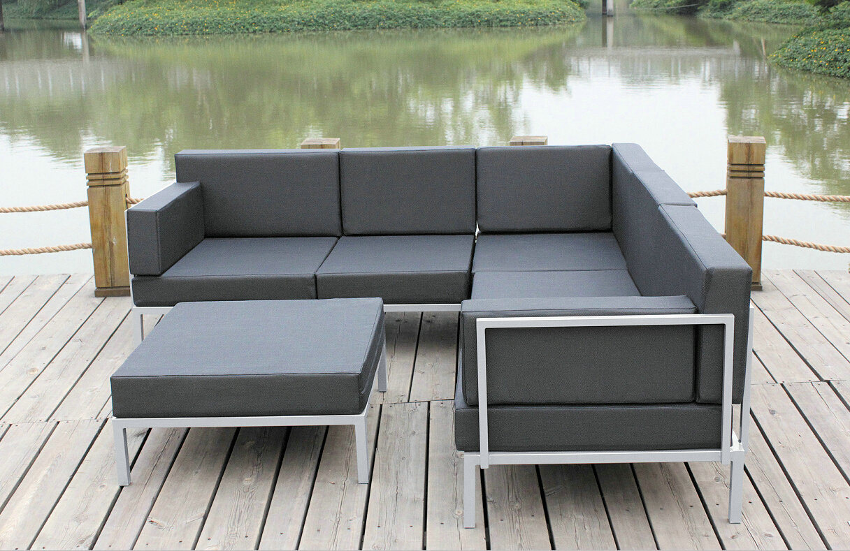 metal garden sofa sets mid century modern pictures china casual selectional set aluminum outdoor