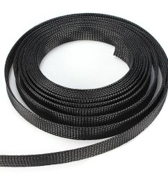 black 3 4 braided expandable sleeve wiring harness loom wire cover [ 1200 x 1200 Pixel ]