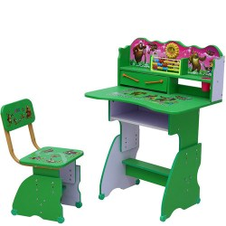 China Popular Cartoon Picture Student Desk and Chair China Student Desk and Chair School Furniture