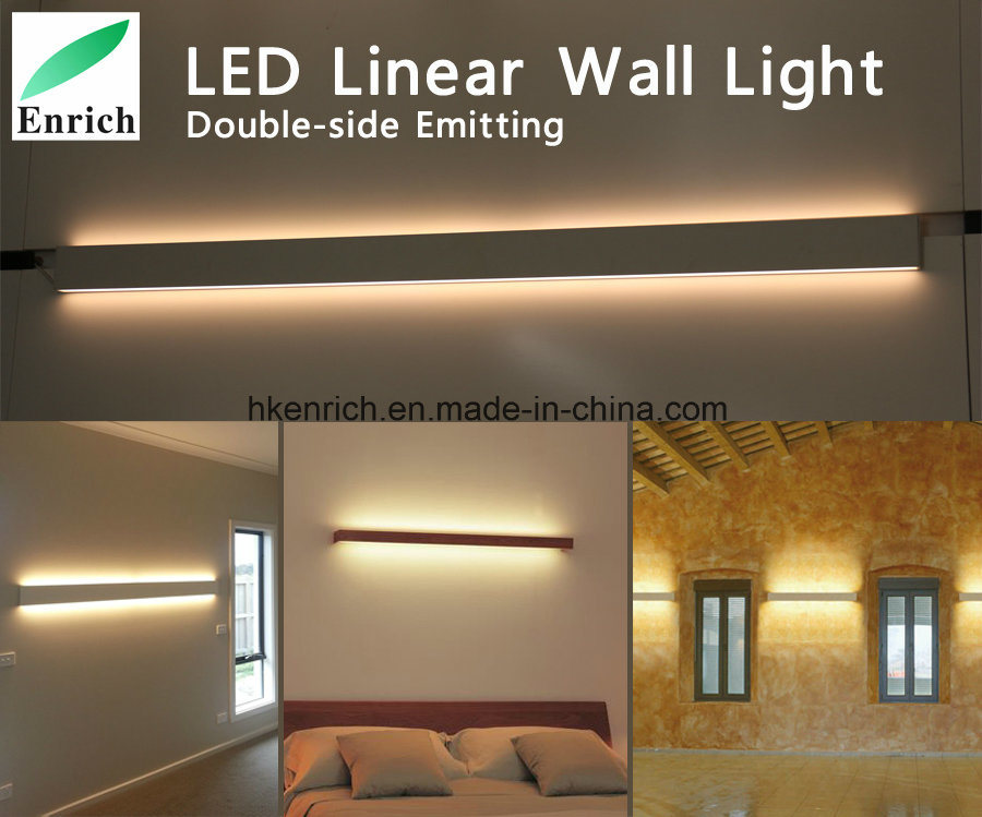 China Led Bedroom Light Indoor Modern Double Side Surface Mounted Aluminium Up And Down Emitting Led Wall Linear Light China Up And Down Double Side Light Emitting Linear Suspension Led Lights