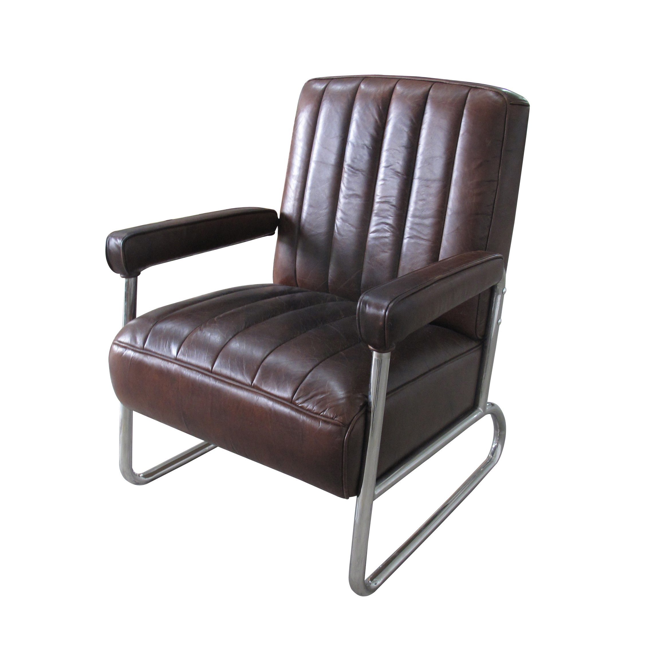 china vintage cow leather chair