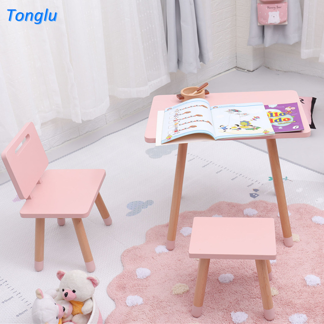 China Wooden Kids Table And Chair Set Toddler Table Set Chairs And Stool Photos Pictures Made In China Com