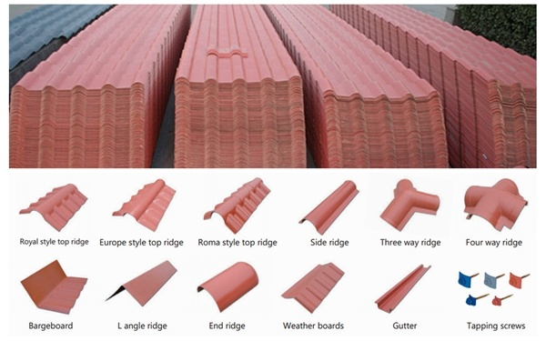 hot item anti uv color stable synthetic spanish roof tiles