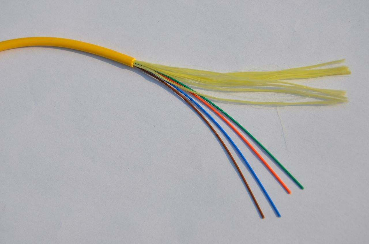 hight resolution of optical fiber color code single mode 24 core fiber optic breakout cable