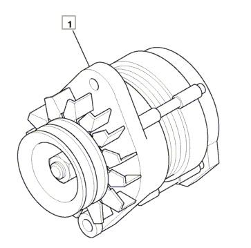 China Alternator 714/40523 for Jcb Excavator Js200W Js240