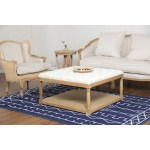 China Square Upholstered Tufted Cocktail Beige Ottoman Coffee Table China Ottoman Coffee Table Tufted Ottoman