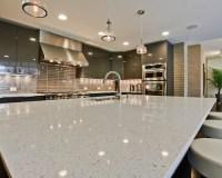 China Sparkle White Polished Quartz Countertop for Kitchen ...