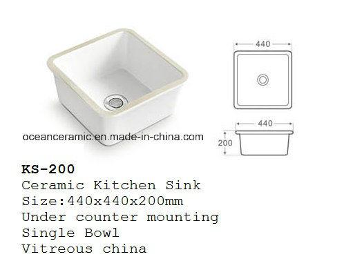china ks 200 ceramic kitchen sink