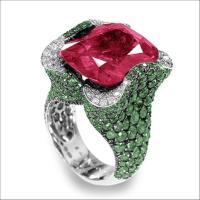 China 18k High End Ruby&Emerald&Diamond Ring (BLR3 ...