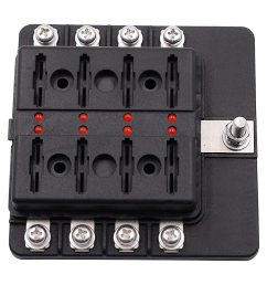 8 way blade fuse box holder with led light damp proof block marine car boat automotive [ 1500 x 1500 Pixel ]