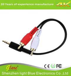 china 3 5mm male to 2 rca male stereo audio y cable china electrical wire communication cable [ 901 x 900 Pixel ]