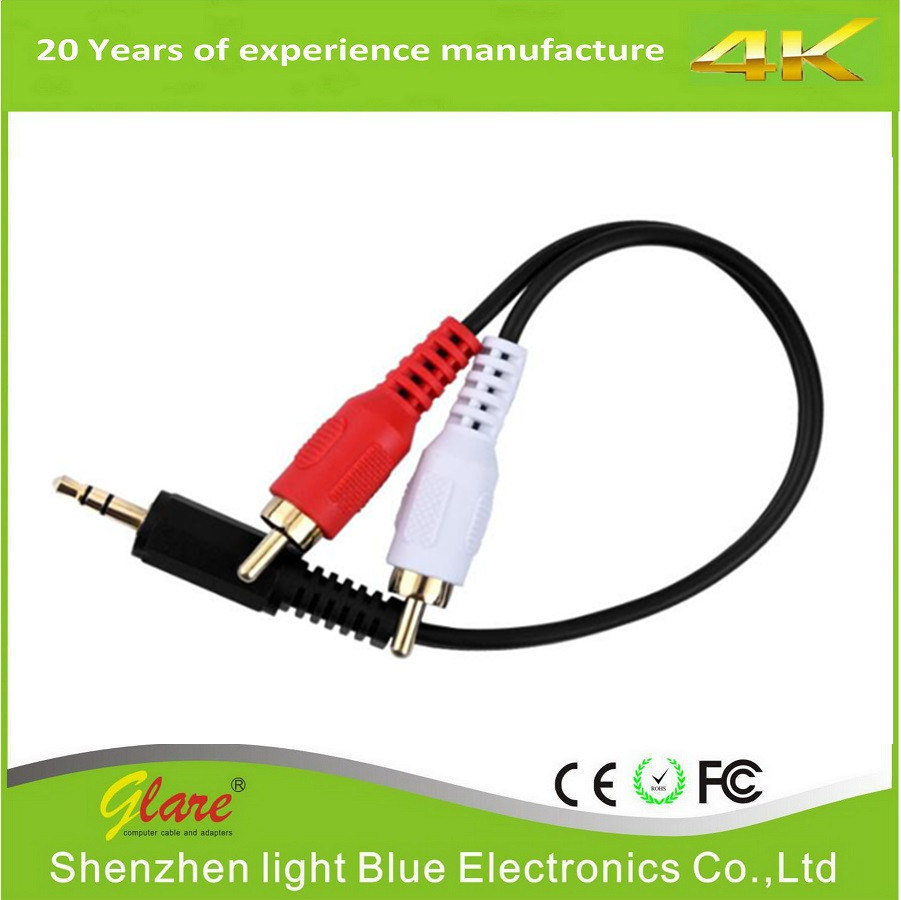medium resolution of china 3 5mm male to 2 rca male stereo audio y cable china electrical wire communication cable