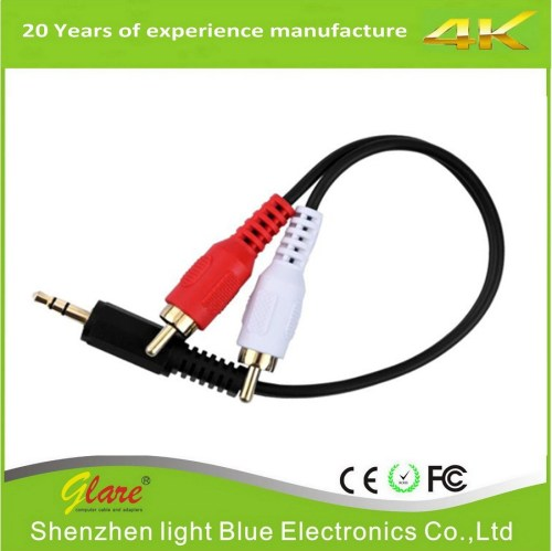 small resolution of china 3 5mm male to 2 rca male stereo audio y cable china electrical wire communication cable