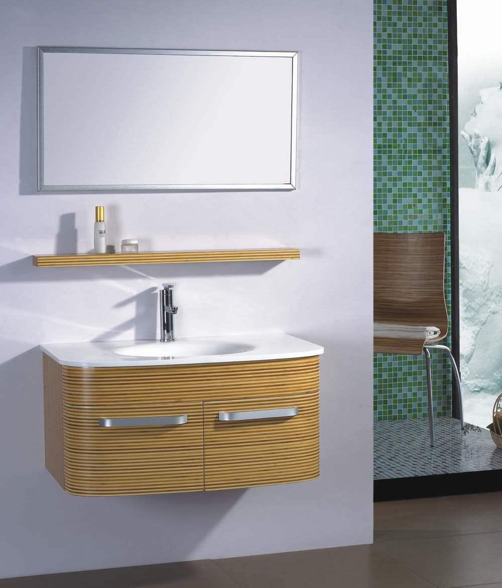 China Bamboo Bathroom Cabinet GO017  China Bathroom