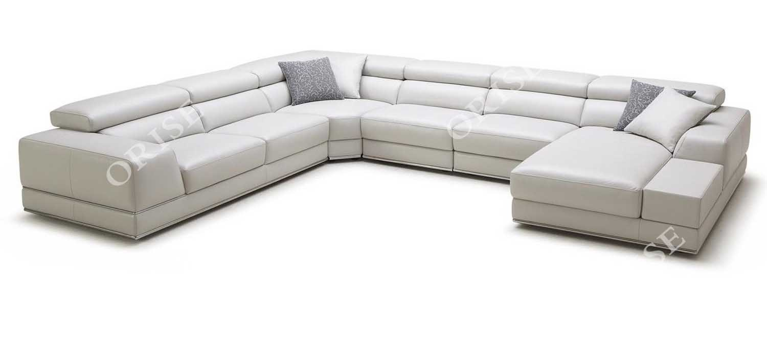 China Modern Home Furniture U Shaped Italy Leather Sectional