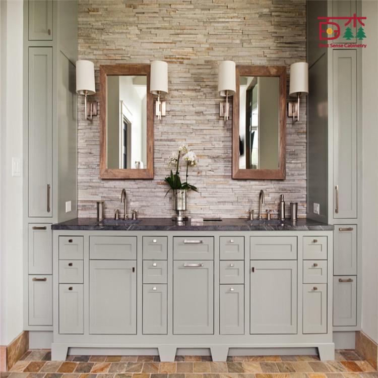 China North America Style Modern Solid Wooden Bathroom Vanity Cabinet China Bathroom Vanity Abinet Bathroom Vanity
