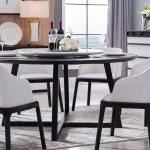China Fashion Modern Mdf Veneer Round Dining Table 8 Seater Lazy Susan Selectable China Wooden Dining Table Dining Room Table