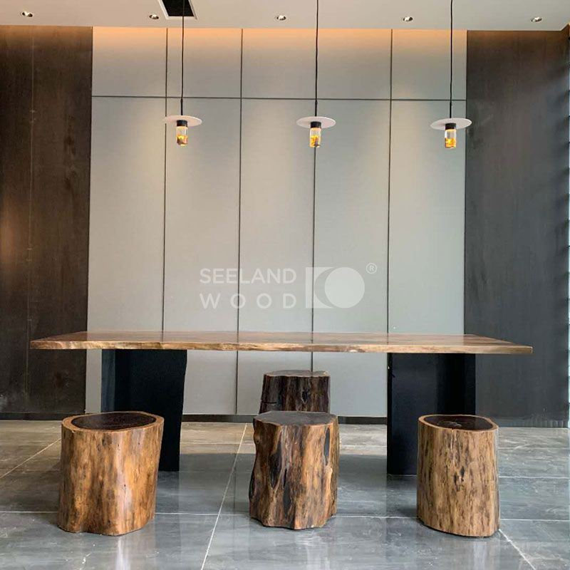 hot item solid wooden countertop console table dining table bartable top with live edge