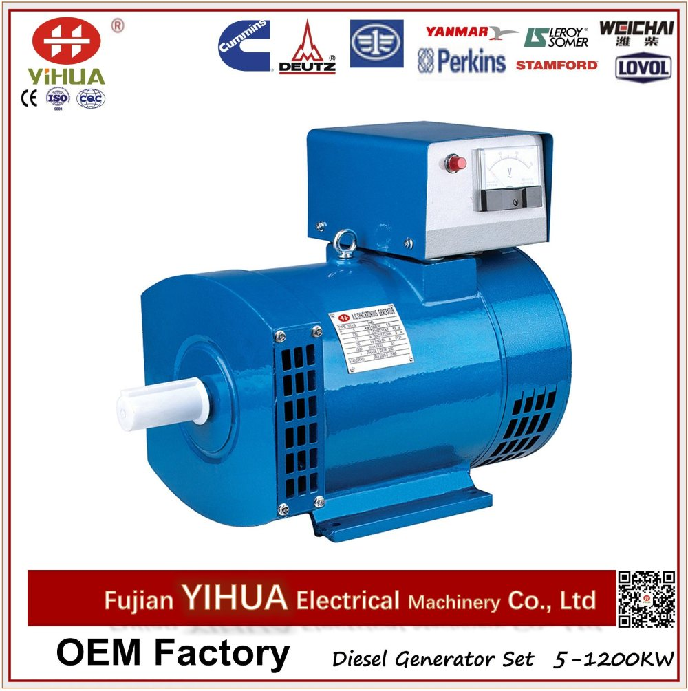 medium resolution of 100 copper st stc ac single three phase power generator brush alternator 2 50kw