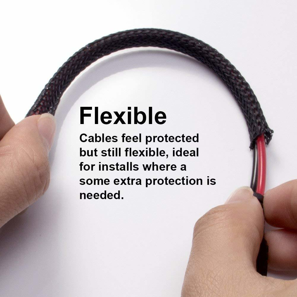 hight resolution of black expandable braided sleeving auto wire harness cover sleeve for cable and hose protection