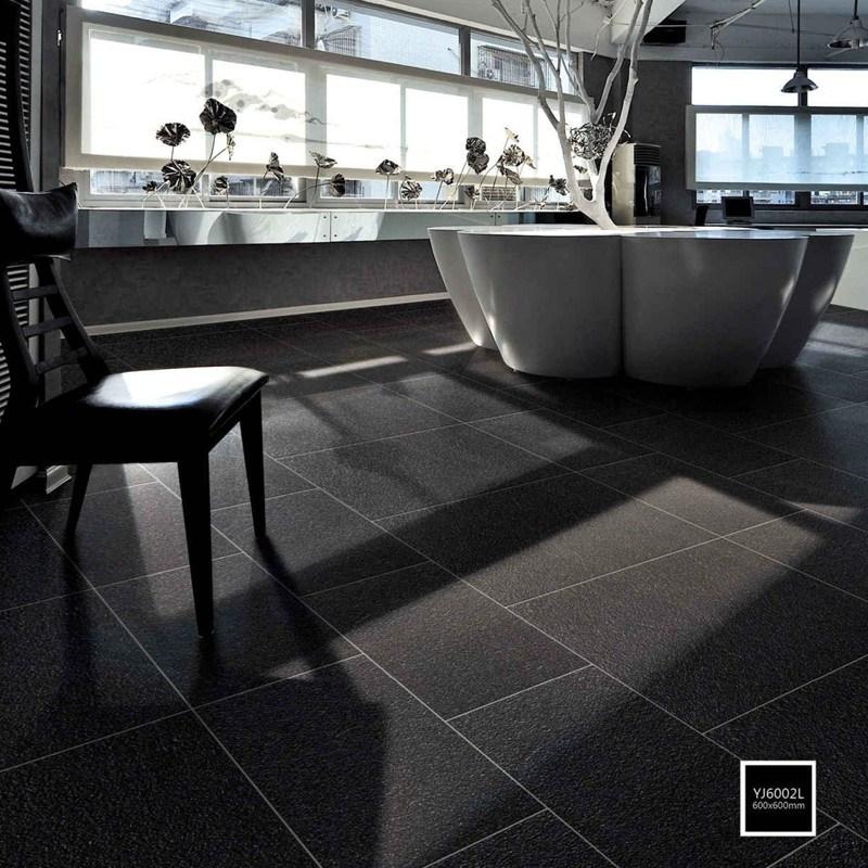 hot item 24x24 inch 60x60cm black porcelain rock matt finish floor and wall tile