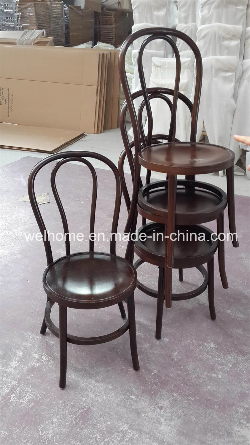 Hot Item Stackable Solid Wood Bentwood Chair For Hotel