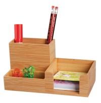 China Bamboo Desk Organizer Office Supply Pen Holder ...