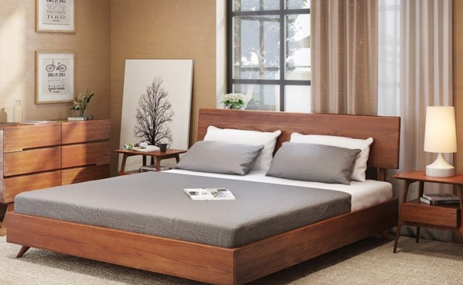 China Modern Home Bedroom Furniture Single Double Bed