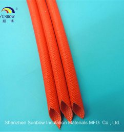 flame resistance silicone resin fiberglass sleeving for wire harness [ 1000 x 1000 Pixel ]