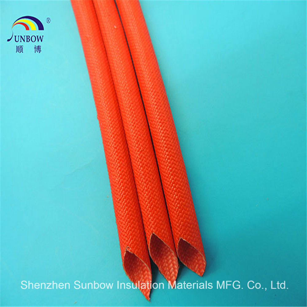 hight resolution of flame resistance silicone resin fiberglass sleeving for wire harness