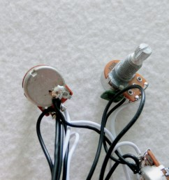 sss guitar wiring harness with alpha mini 250k guitar pots [ 900 x 900 Pixel ]