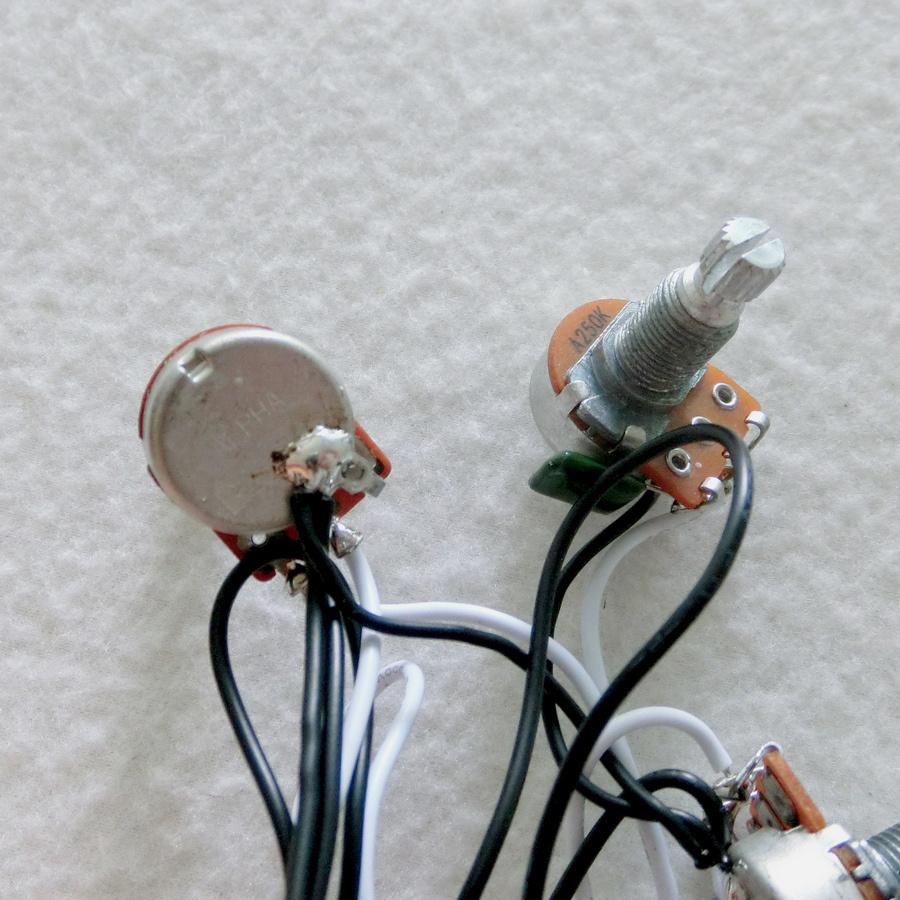 medium resolution of sss guitar wiring harness with alpha mini 250k guitar pots