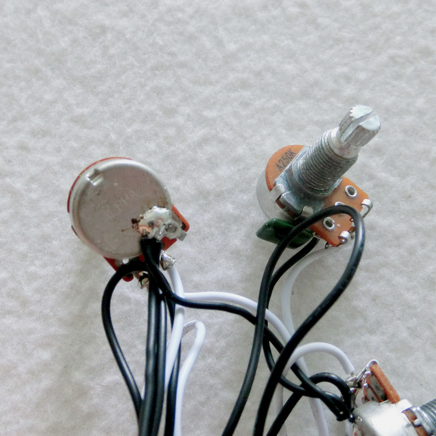 hight resolution of sss guitar wiring harness with alpha mini 250k guitar pots