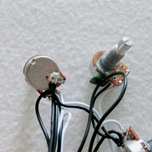 small resolution of sss guitar wiring harness with alpha mini 250k guitar pots