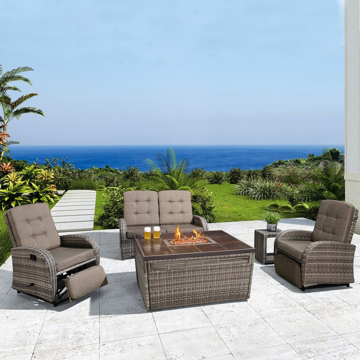 china outdoor furniture fire place