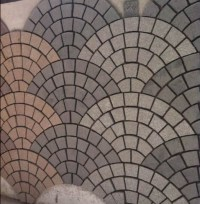 China Fan Shaped Mosaic Floor Tiles Kerbstone Cube Stone ...