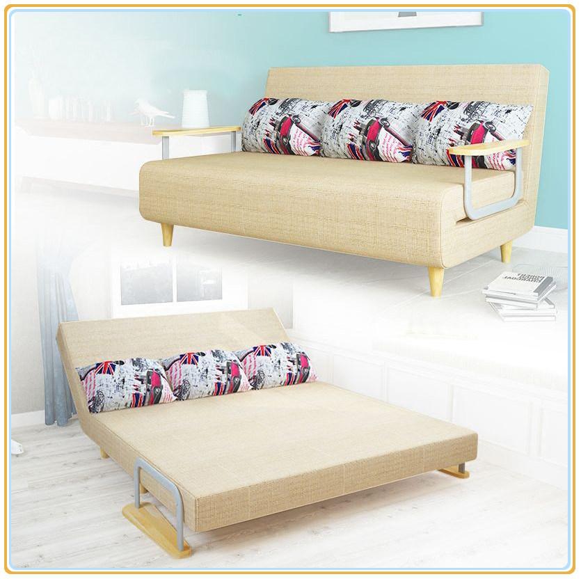 China Folding Sofa Bed Design Space Saving Wooden Frame