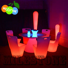 led table and chairs sleeper twin chair china lighting round lldpe plastic material cheap price for bar party retal wedding