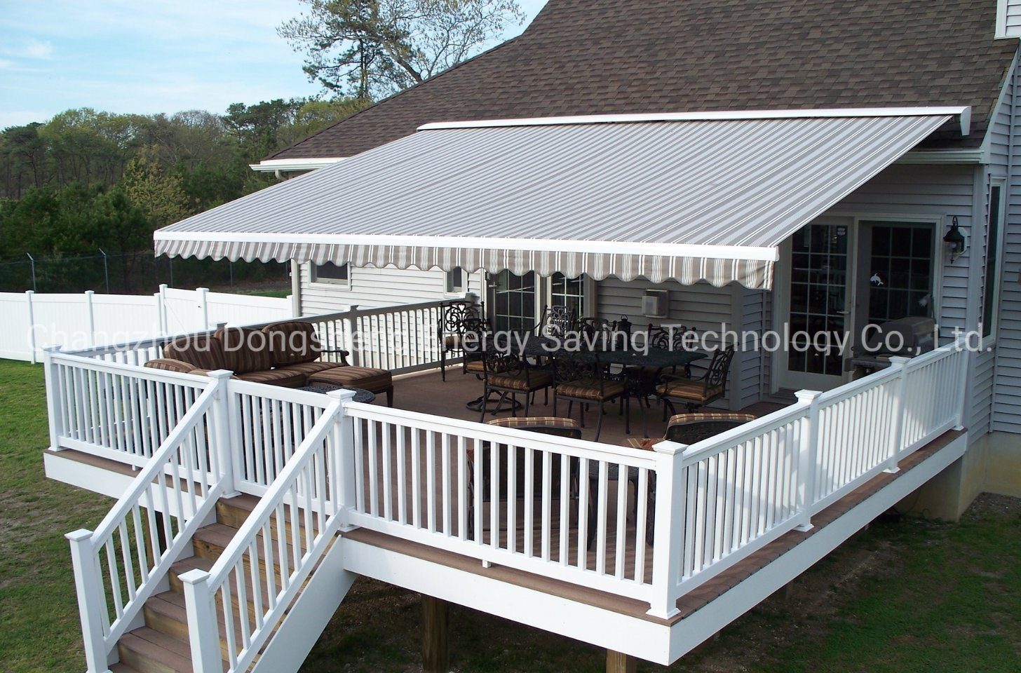 hot item outdoor semi cassette motorized retractable patio awning