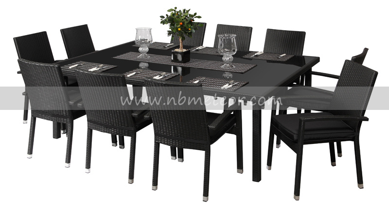 China Mtc 085 10 Seater Rattan Dining Table And Chairs Set China Outdoor Furntiure Rattan Furntiure