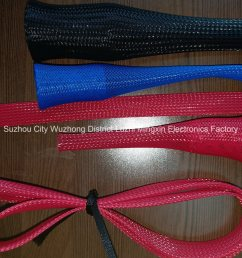 black expandable braided sleeving auto wire harness cover sleeve for cable hose protection [ 1450 x 1088 Pixel ]