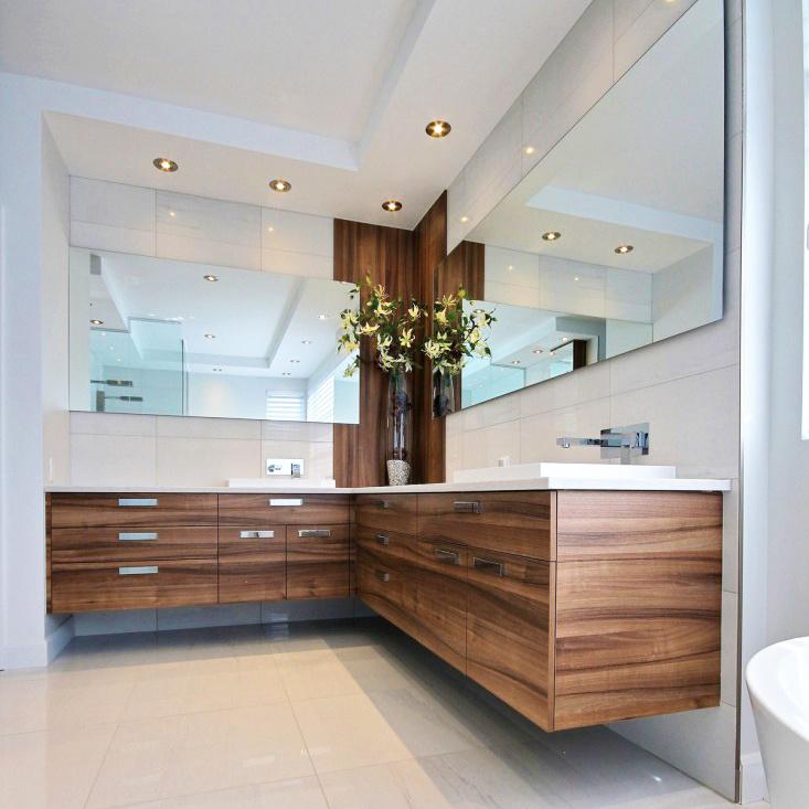 China Custom Design Elegant High End Solid Wood L Shaped Luxury Bathroom Vanity China Bathroom Vanity Bathroom Furniture