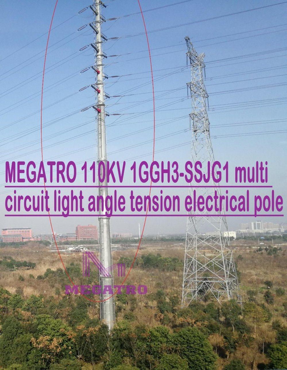 medium resolution of china megatro 110kv 1ggh3 ssjg1 multi circuit light angle tension electrical pole china 110kkv transmission tangent tower 110kv overhead line steel tower