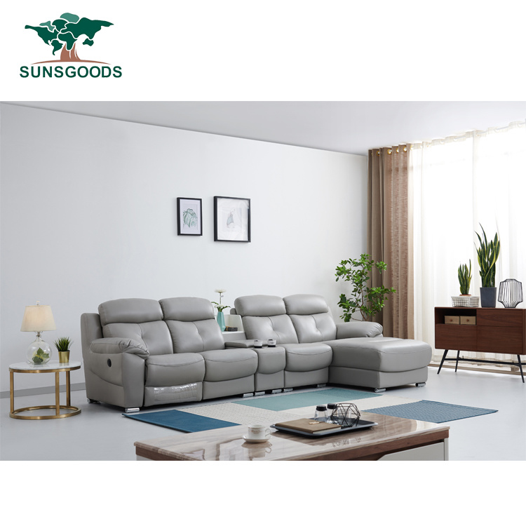china luxury geunine leather sofa with
