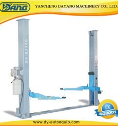 china dayang garage 4 ton two post car lift equipment with manual lock china car hoist auto lift [ 1000 x 1000 Pixel ]